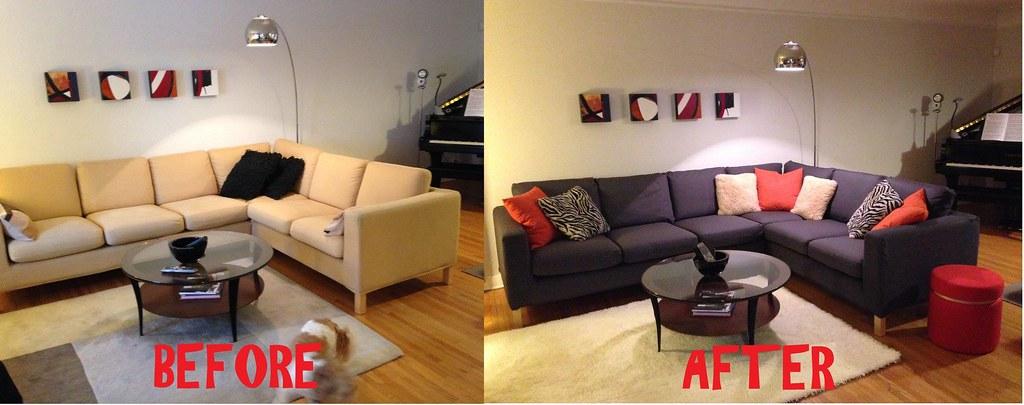 Ikea Karlanda Corner Sofa In Cotton Duck Slipcover Flickr