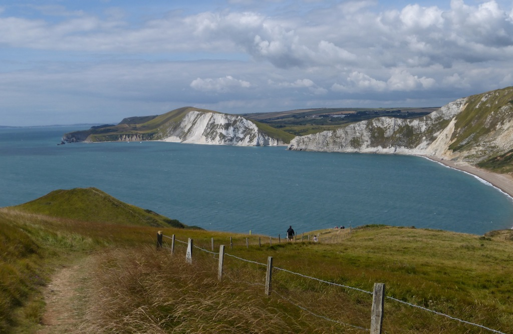 Descending to Worbarrow Bay