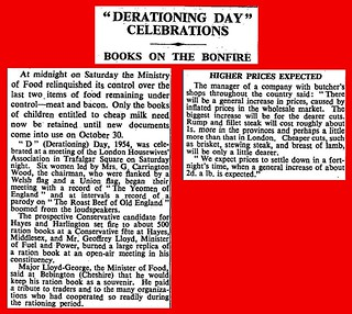 4th July 1954 - Food rationing ends | by Bradford Timeline