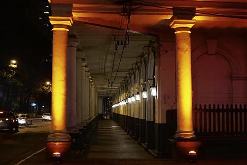 night de view vista nocturna asuncion paraguay estación ferrocarriles