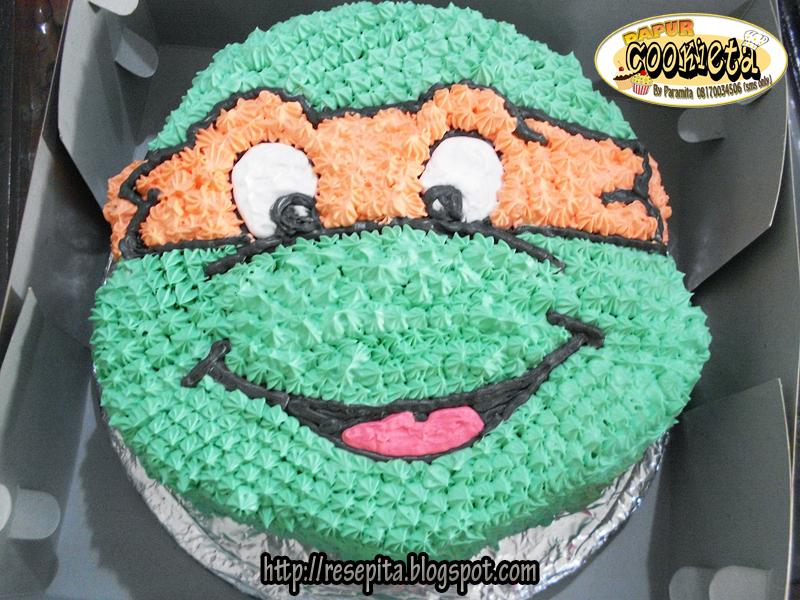 Superb Ninja Turtles Birthday Cake Orderan Mbak Jasinta Ita Paramita Funny Birthday Cards Online Alyptdamsfinfo