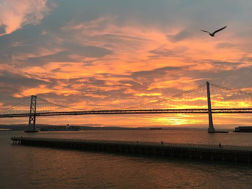 Well done, Mama Nature! #sunrise #nofilterneeded #baybridge #sanfrancisco #seagullsofinstagram