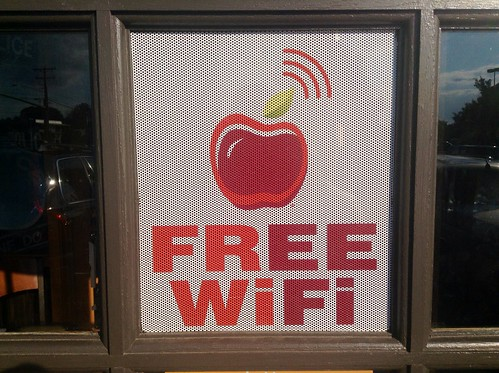 Applebee's Free Wifi Sign. 6/2014 Plainville CT. Pics by Mike Mozart if TheToyChabbel and JeepersMedia on YouTube. #Applebees  #FreeWifiSign #FreeWifi #ApplebeesFreeWifi | by JeepersMedia