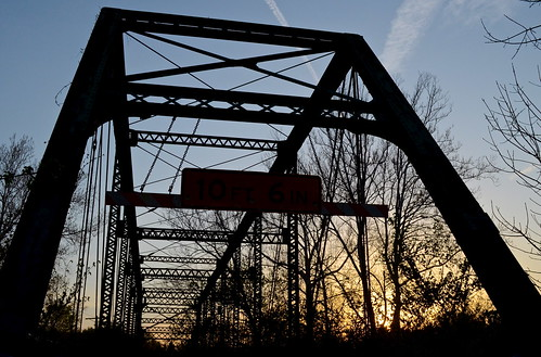 road county old bridge columbus sunset ohio sky orange abandoned silhouette closed sundown places historic national forgotten register delaware nrhp