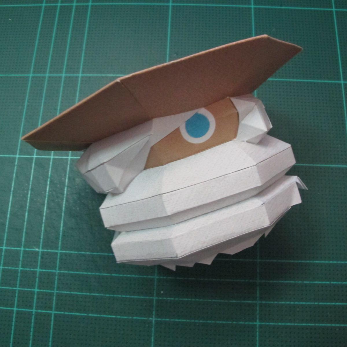 วิธีทำโมเดลกระดาษของเล่นคุกกี้รัน คุกกี้รสพ่อมด (Cookie Run Wizard Cookie Papercraft Model) 047