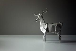 white | by paper folding artist redpaper