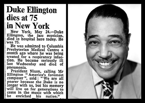 24th May 1974 - Death of Duke Ellington | by Bradford Timeline