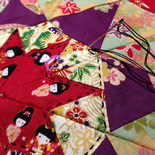Hand Quilting Detail, Japanese Star Quilt   by Sarah.WV