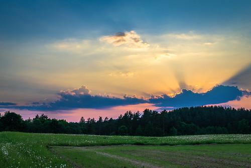 sunset summer nikon cloudy latvia nikkor vasara latvija latgale nikond600 nikcolor
