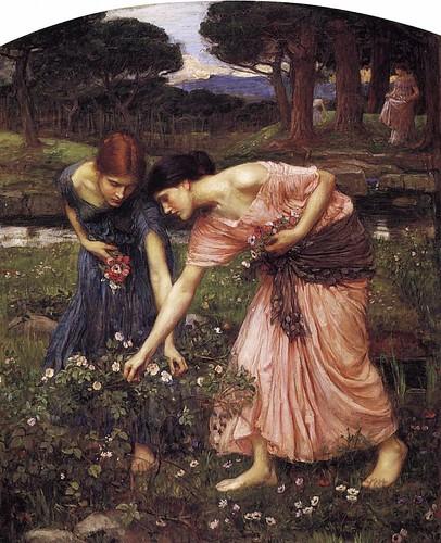 Gather Ye Rosebuds While Ye May. By John William Waterhouse | by Swallowtail Garden Seeds