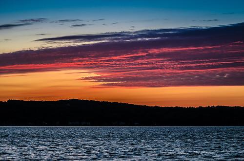 light sunset sky lake color water fair canandaigua