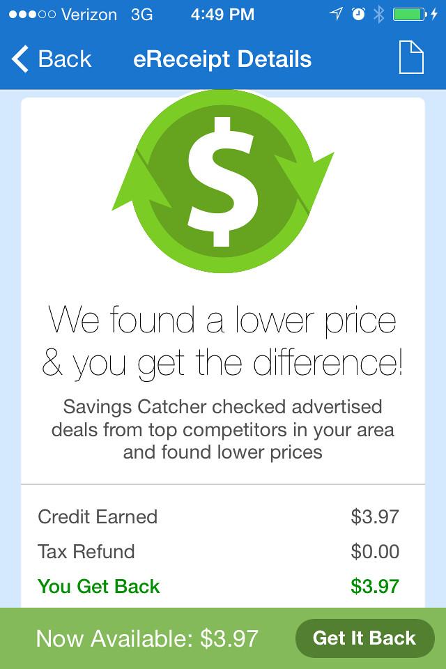 Walmart Savings Catcher 4