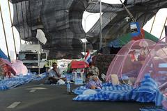 Occupied Rama 8 Bridge - Bangkok