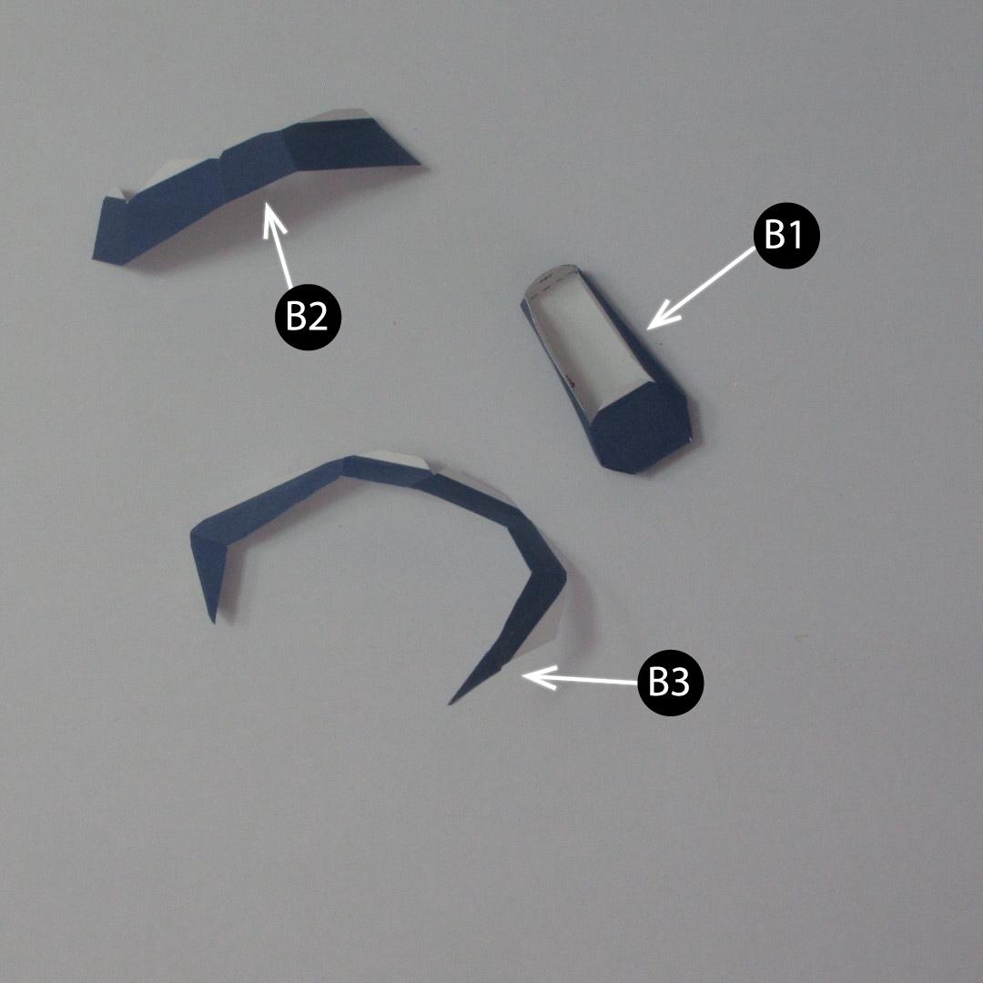 วิธีทำของเล่นโมเดลกระดาษกับตันอเมริกา (Chibi Captain America Papercraft Model) 008