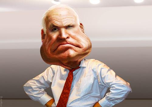 John McCain - Caricature | by DonkeyHotey