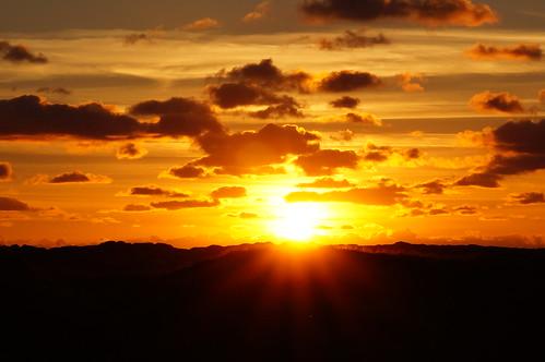 sunset sun norway landscape