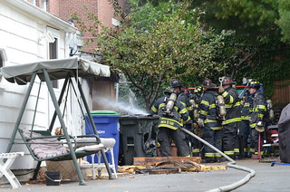 Shed Fire, 34 Cutter St, East Somerville | by Rob Bellinger