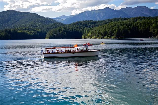 German Boating on Lake Eibsee