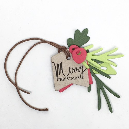 Mini messages Christmas tag   by Kimberly Toney