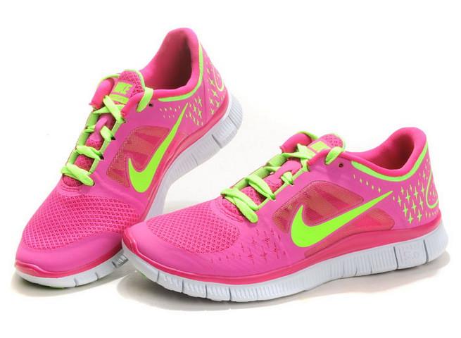 174506   Nike Schuhe Nike Free Run 3 Damen Neon rosa