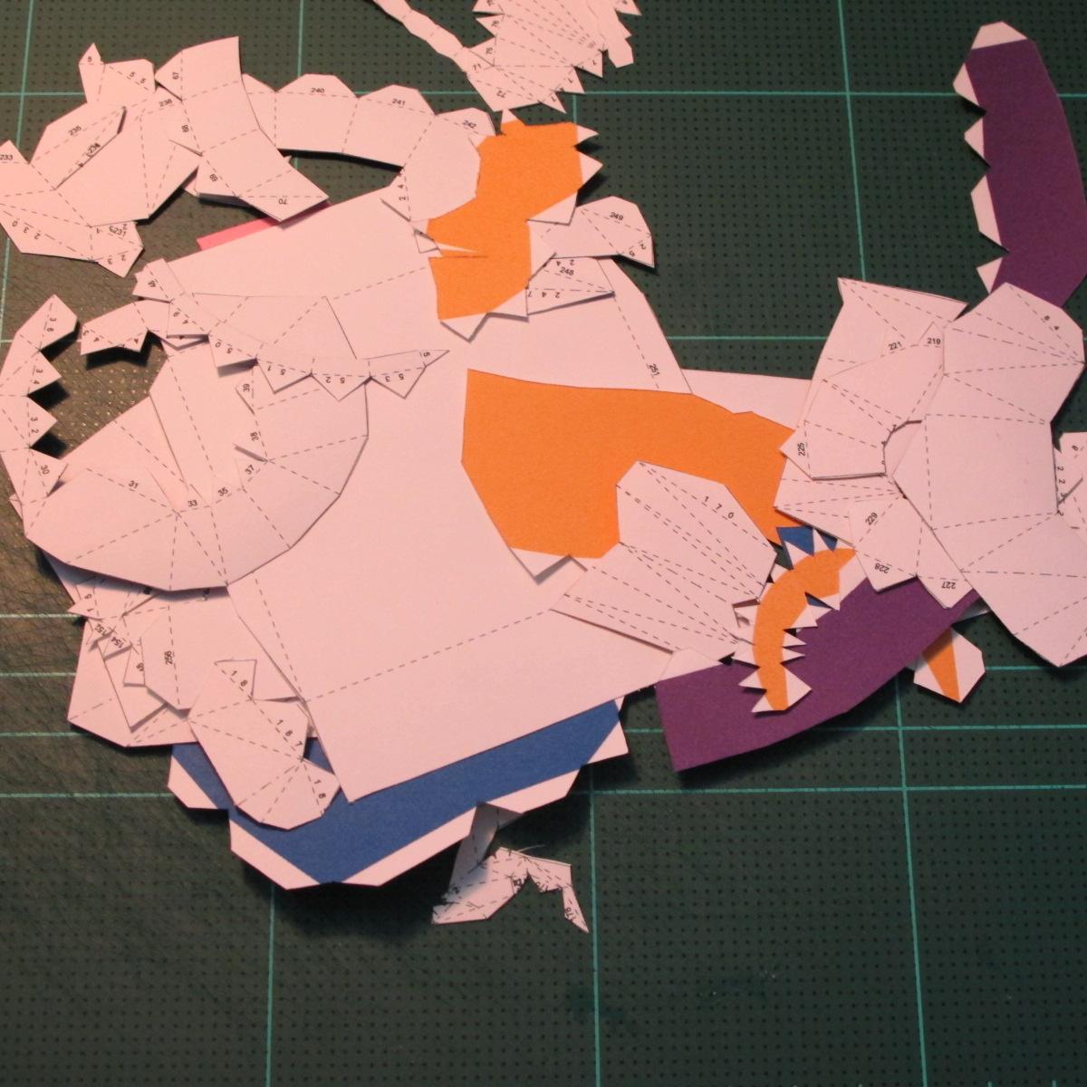 วิธีทำโมเดลกระดาษตุ้กตา คุกกี้รสราชินีสเก็ตลีลา จากเกมส์คุกกี้รัน (LINE Cookie Run Skating Queen Cookie Papercraft Model) 001