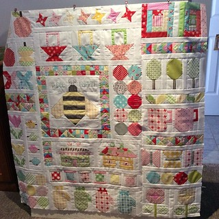 finally sewed the blocks together - hope to get the four rounds of borders on this week ! #quiltyfun
