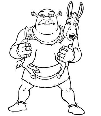 Desenho Para Colorir Shrek Desenhos Para Imprimir E Colori Flickr