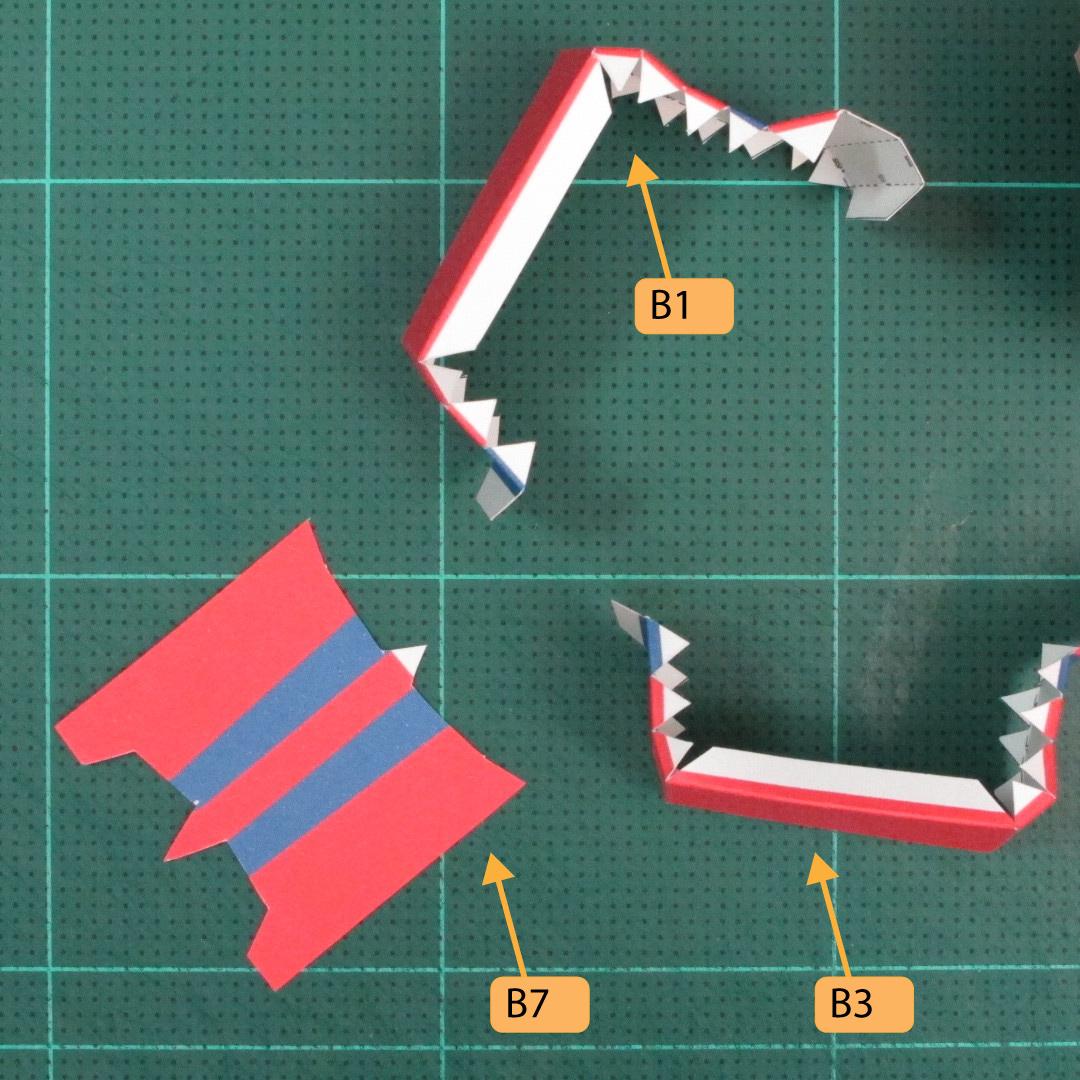 วิธีทำของเล่นโมเดลกระดาษซุปเปอร์แมน (Chibi Superman  Papercraft Model) 021