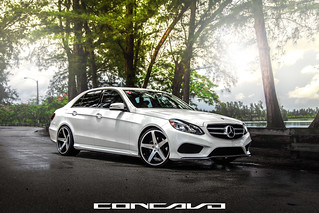 Mercedes Benz E350 on CW-5 Matte Black Machined Face | by Concavo Wheels