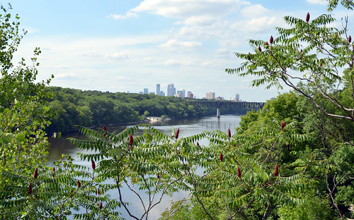 Mississippi River and the Minneapolis Skyline