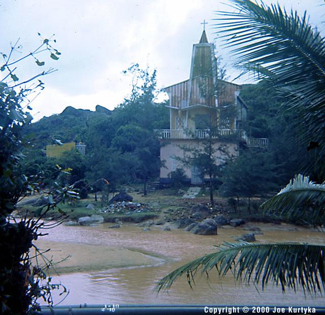 QUI NHON 1966-67 - Church at the leper colony - Nhà thờ tại Trại phong Quy Hòa (Q. Tuy Phước, tỉnh Bình Định)