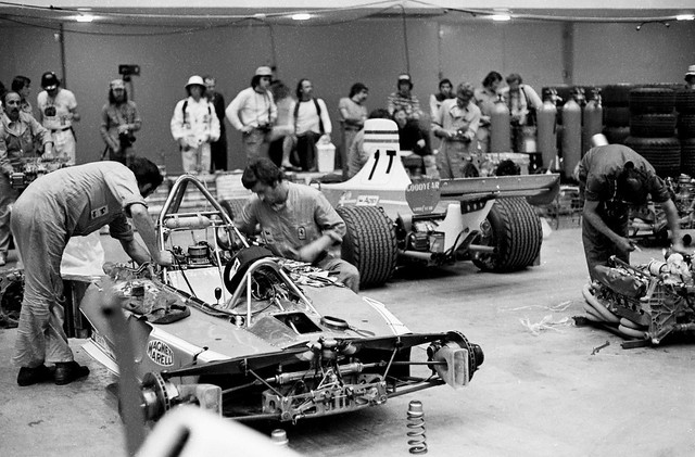 US Grand Prix West - in Long Beach - 1976 Ferrari paddock