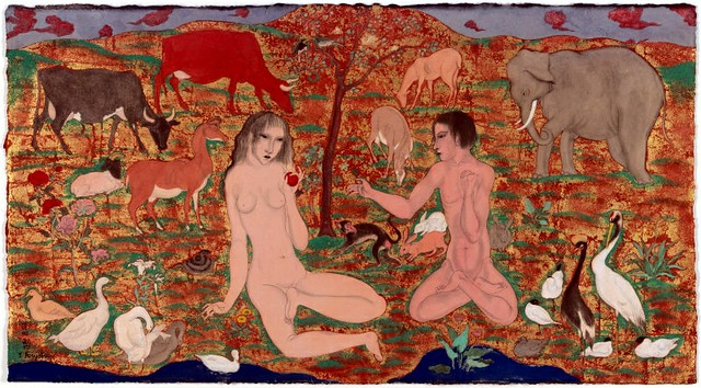 Tsugoharu Foujita (1886-1968) - Adam and Eve (Art Institute of Chicago, USA)