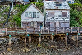Low tide at the forgotten part of the city on stilts - Ketchikan, Alaska | by Phil Marion