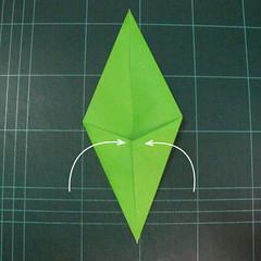 วิธีพับกระดาษเป็นช่อดอกไม้ติดอกเสื้อ (Origami Wedding Chest Flower) 027