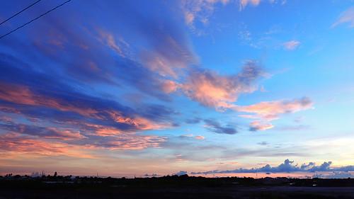 blue sunset red wallpaper sky orange color gulfofmexico weather yellow clouds landscape evening coast nikon flickr florida dusk september coolpix storms bradenton p510 mullhaupt cloudsstormssunsetssunrises jimmullhaupt
