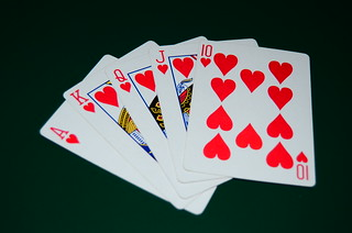 Royal Flush - Hearts | by pokerphotos