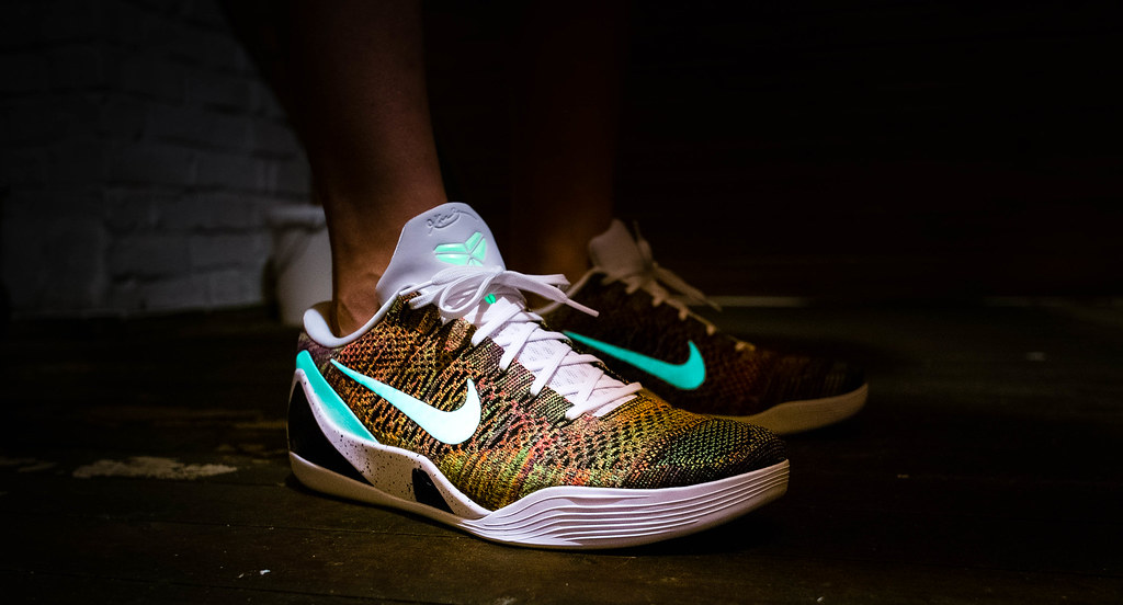 e0232ad308a ... Nike Kobe 9 elite Low id multicolor glow in the dark
