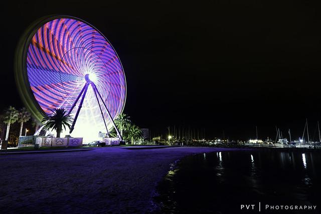 Lighting Up The Giant Sky Wheel