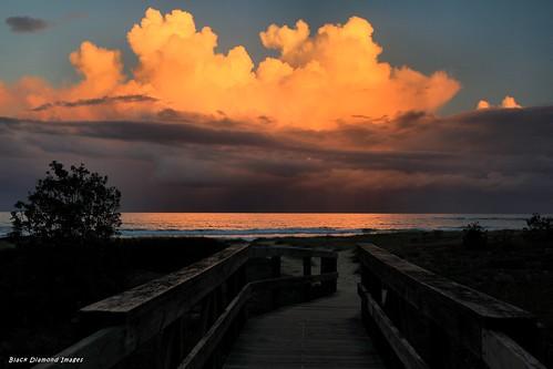 sunset clouds sunsets australia nsw blackhead backbeach hallidayspoint greatlakesnsw