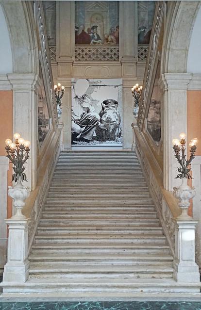 L'escalier d'honneur du Palazzo Grassi (Venise)