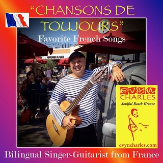 Chers amis, how about some French chansons for your next event? I was born and raised outside Paris, France, and am thrilled to offer some of the best songs in my native language :) A bientôt! | by Evyn Charles