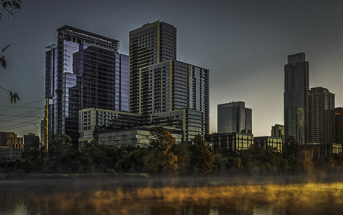 austin texas downtown sunrise orange dawn clear olympus