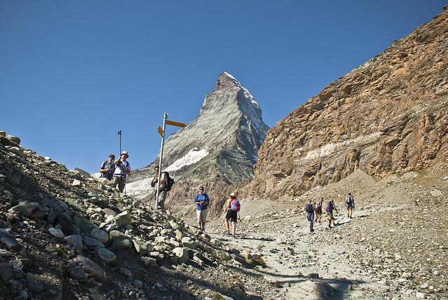 The way to the refuge of Matterhorn & Hörnli (The Hörnli Hut  ,Hörnlihütte ,) No, 1372.