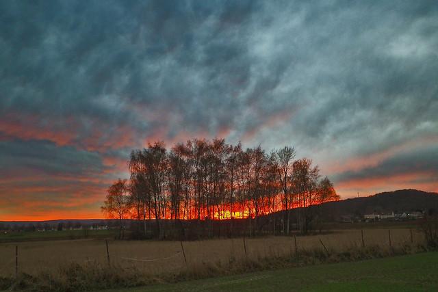 Sundown over Lower Saxony