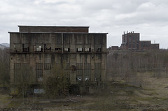 Abandoned building of the blast furnace of SMTR and power plant, 01.03.2015.
