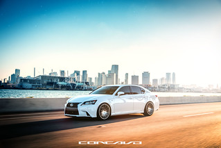 Lexus GS350 F-Sport on CW-12 Matte Grey Machined Face | by Concavo Wheels
