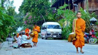 Tak Bat Ceremony, Luang Prabang, Laos