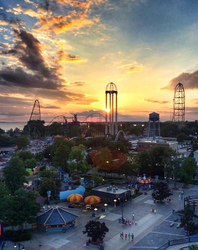sunset ohio clouds amusementpark cedarpoint photostream iphone