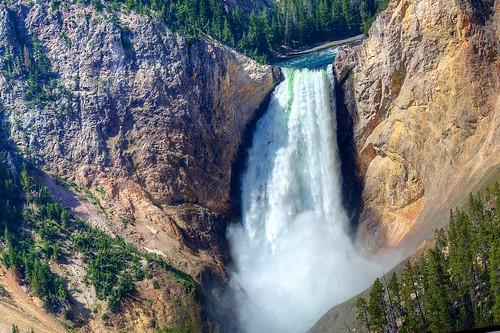 water waterfall nikon yellowstone hdr photomatix tonemapped d7100